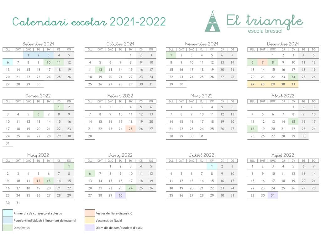 CALENDARI CURS 21-22